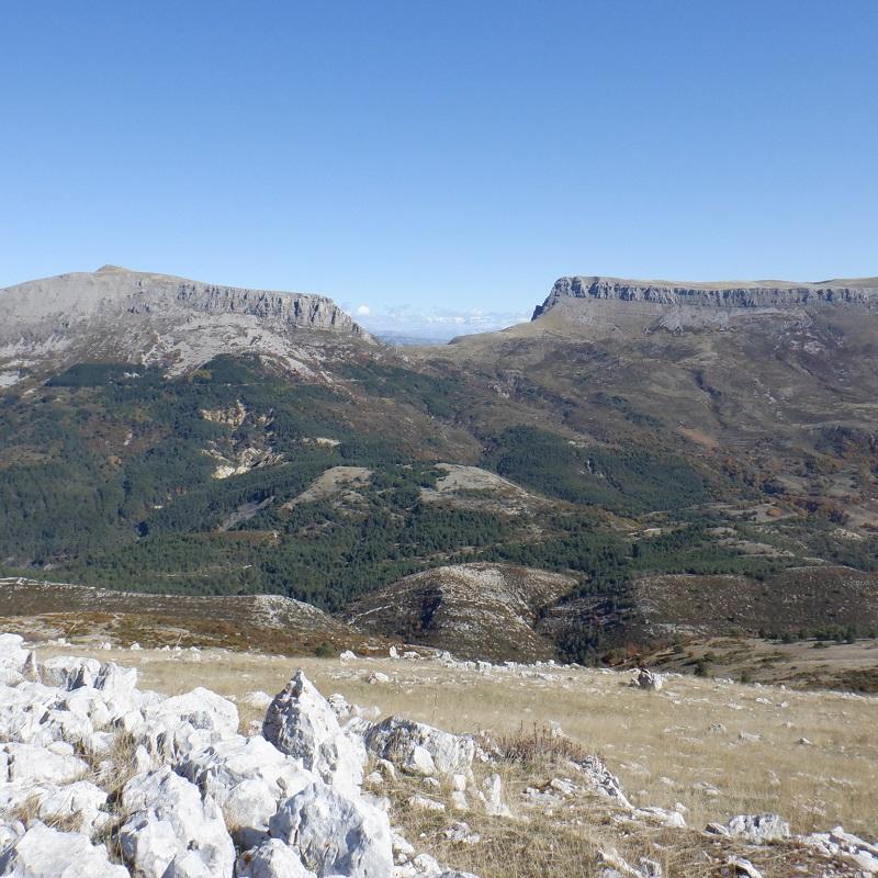Panorama du Pavillon, côté face : mont Chiran et Mourre de Chanier !