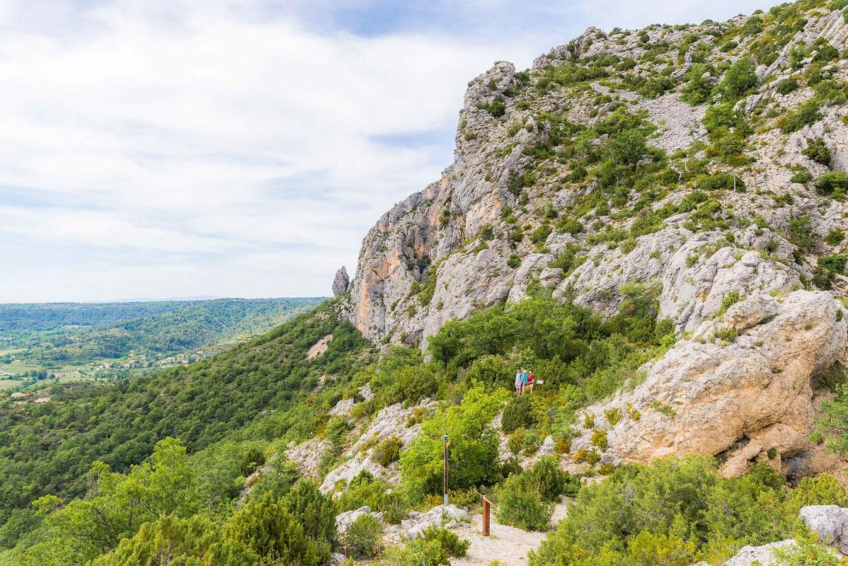 Aperçu sur une portion de l'itinéraire et les panneaux didactiques de ce sentier botanique de Tréguier