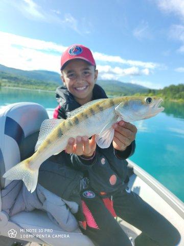 poisson dans le lac de Sainte-Croix