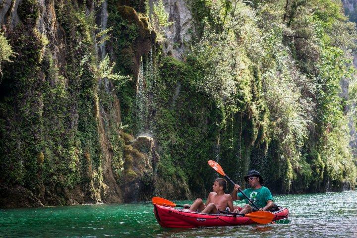 Les Gorges de Baudinard : l'un des merveilleux spots du Parc du Verdon où il est possible de pratiquer le canoë-kayak de façon pleinement autonome !