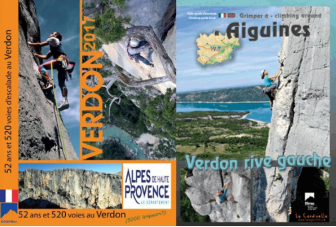Les deux topos d'escalade incontournables des Gorges du Verdon : rive droite et rive gauche !